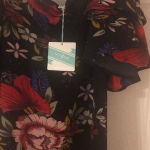 Francesca's Collections Dresses - Francescas Sz small off the shoulder ruffle dress